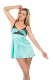 Teal chemise Stock Images