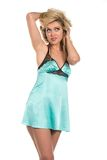 Teal chemise Royalty Free Stock Photo