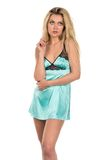 Teal chemise Stock Photography