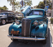 Teal 1937 Chevrolet Master Deluxe Stock Photo