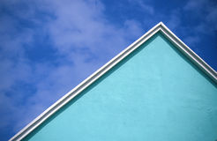 Teal church, Bermuda. royalty free stock photos