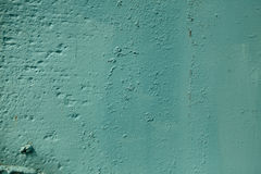 Teal color rough textured painted wall background Stock Photography