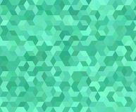 Teal 3d cube mosaic pattern background. Design Stock Photo