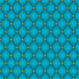 Teal Diamond Seamless Tile. Seamless background consisting of soft teal diamonds and shiny copper rivets;  file contains unexpanded blends (and clipping path) Stock Photo