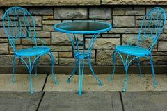 Teal Dinette Set Stock Images