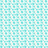 Teal Dots och guld- cirklar Arkivfoton