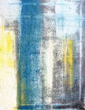 Teal e giallo Art Painting astratto Immagini Stock