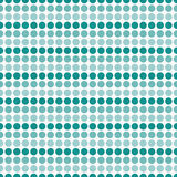 Teal e sedere bianche di ripetizione di Dot Abstract Design Tile Pattern di Polka Fotografia Stock