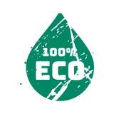 Teal eco вектора штемпель ретро винтажный для знака качества Стоковое фото RF