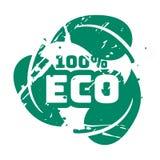 Teal eco вектора штемпель ретро винтажный для знака качества Стоковые Изображения RF