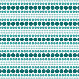 Teal et Ba blanc de répétition de Dot Abstract Design Tile Pattern de polka Photo libre de droits