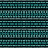 Teal et Ba noir de répétition de Dot Abstract Design Tile Pattern de polka Images stock