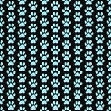 Teal et fond de Paw Prints Tile Pattern Repeat de chien noir Photo libre de droits