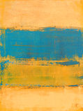 Teal et peinture orange d'art abstrait Photos libres de droits