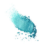 Teal eye shadow. Isolated on white background Royalty Free Stock Photo