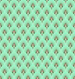 Teal feather seamless pattern Stock Images
