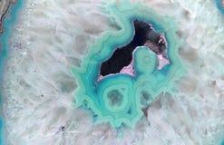 Teal Geode Gemstone Background Immagine Stock Libera da Diritti