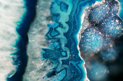 Teal Geode Macro. Beautiful macro close up of a sparkling teal geode Royalty Free Stock Images