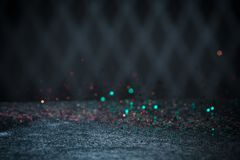 Teal Glitter Lights Background Chispa Bokeh del vintage con Selec Fotos de archivo
