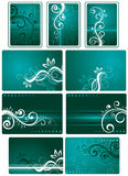 Teal green background set royalty free illustration