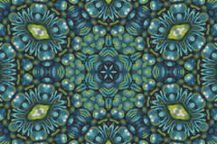 Teal and green mandala background Stock Photography
