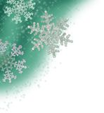 Teal Green Snowflake Border Stock Photos