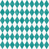 Teal Grunge Diamond Tile Pattern Repeat Background Stock Images
