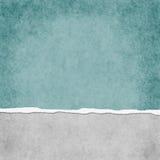Teal Grunge Torn Textured Background léger carré Photographie stock