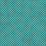 Teal luminoso e piccola Polka bianca Dots Pattern Repeat Background Fotografia Stock