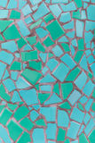 Teal Mosaic Tile Texture. In Varying Shades royalty free stock images