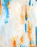Teal and Orange Abstract Art Painting Royalty Free Stock Images