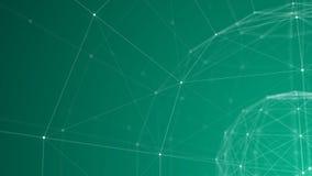 Teal Plexus Sphere-draad-Kader 3d Achtergrond vector illustratie