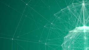 Teal Plexus Sphere-draad-Kader 3d Achtergrond v2 stock illustratie