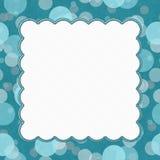 Teal Polka Dot Frame Background Imagenes de archivo