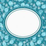 Teal Polka Dot Frame Background Imágenes de archivo libres de regalías