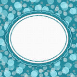 Teal Polka Dot Frame Background Royalty Free Stock Images