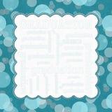 Teal Polka Dot Graduation Frame bakgrund vektor illustrationer