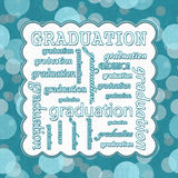 Teal Polka Dot Graduation Message stock illustrationer