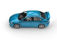 Teal Powerful Modern Car no fundo branco Imagens de Stock