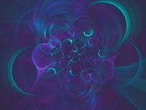 Teal and purple swirls abstract background. Teal and purple swirl abstract background Royalty Free Stock Images