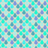 Teal and purple water drops seamless pattern Stock Photos