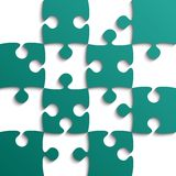 Teal Puzzle Pieces - JigSaw - Field for Chess. Teal Puzzle Pieces - JigSaw - Vector Illustration. Jigsaw Puzzle. Vector Background. Field for Chess Royalty Free Stock Photos