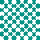 Teal Puzzle Pieces - JigSaw Vector - Field Chess. Teal Puzzle Pieces in a White Square - JigSaw - Vector Illustration. Vector Background. Field for Chess Royalty Free Stock Photography