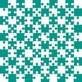 Teal Puzzle Pieces - scacchi del campo vettoriale del puzzle Illustrazione di Stock
