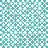 Teal Puzzle Pieces JigSaw - Vector - Field Chess Royalty Free Stock Photos