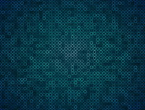 Teal Ring Mosaic Background Loop vector illustration