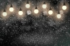 Teal, sea-green fantastic brilliant glitter lights defocused light bulbs bokeh abstract background with sparks fly, festival stock photos
