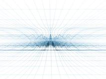 Teal Shockwave Grid Stock Photo