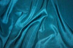 Teal Silk Shantung Fabric Stock Image