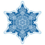 Teal Snowflake Royalty Free Stock Photography